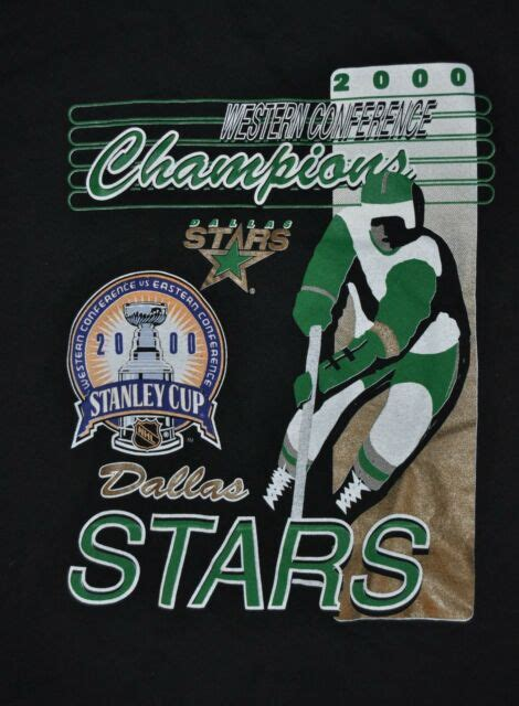 t-shirt medium dallas stars western conference stanley cup ...