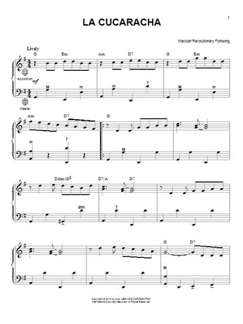 Skye Boat Song Letra Espa Ol by La Cucaracha Sheet Music By Gary Meisner Accordion 98478
