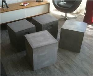 Table Basse En Beton : table basse design 30 mod les qui vont vous faire craquer ~ Teatrodelosmanantiales.com Idées de Décoration