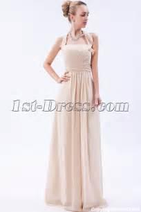 bridesmaid dresses modest chagne charming chiffon modest bridesmaid dress img 9607 1st dress
