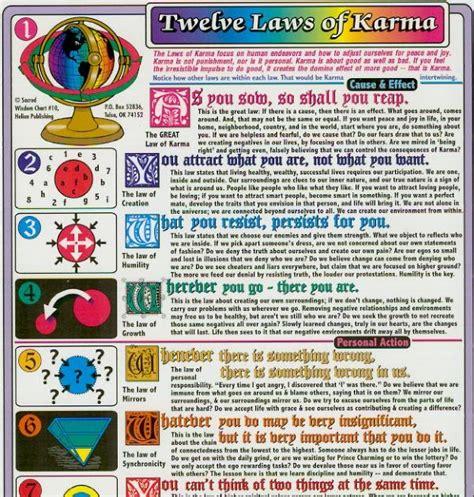 kartos blog twelve laws  karma