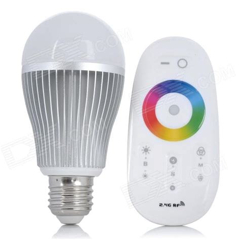 e27 7 5w led 3 channel rgb color light bulb with touch