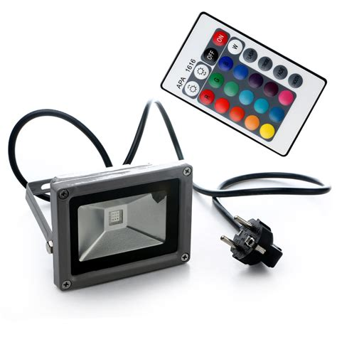 remote control flood lights outdoor 10w rgb waterproof led flood light landscape l