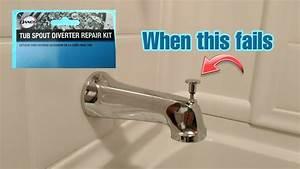 Bathtub Spout Diverter Repair