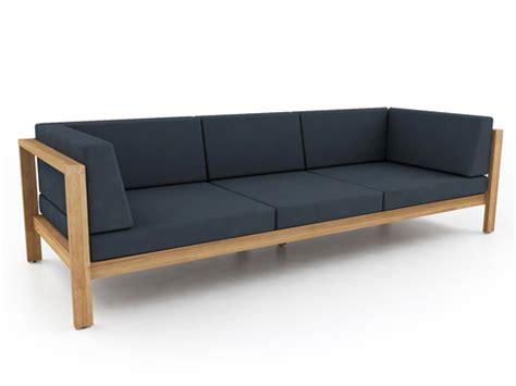 modern teak cushion  seater sofa contract hotel luxury barn style trendy  star