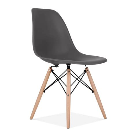 chaise design grise eames style grey dsw chair bar cafe side chairs