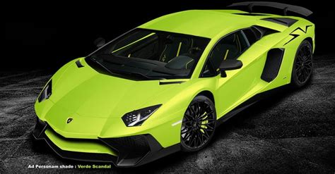 Check Out The Lambo Aventador Sv Rendered In All 34 Colors