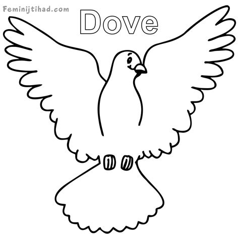 Dove Coloring Page Dove Coloring Page At Getcolorings Free Printable
