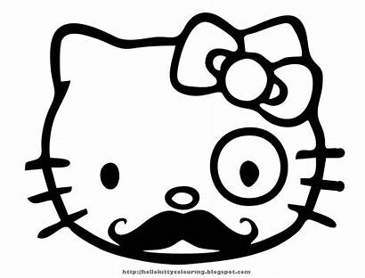 Coloring Pages Nerd Glasses Hello Kitty Printable