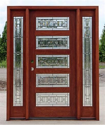 Exterior Doors Mahogany Glass Entry Sidelights Door
