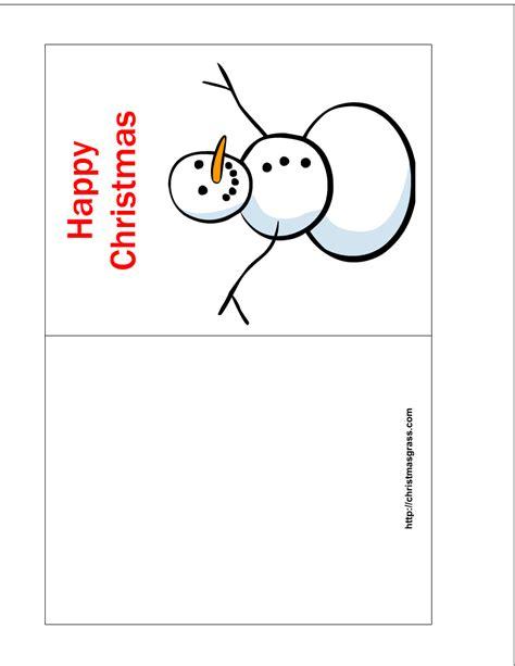 printable happy christmas card  snowman