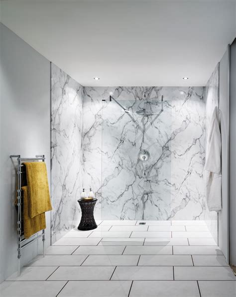 calacatta marble nuance bathroom wall panel