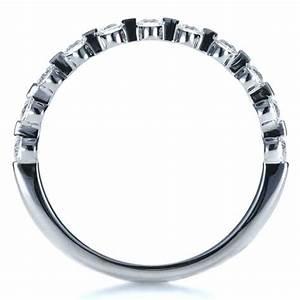 bezel set diamond engagement ring 1254 With bezel wedding ring