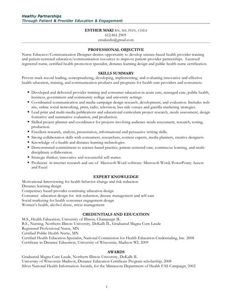Health Education Specialist Resume by Health Information Specialist Resume