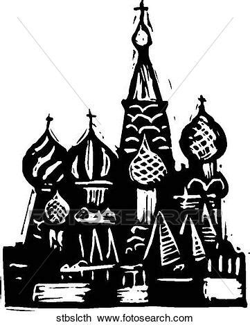 foto de Clipart of St Basil Cathedral stbslcth Search Clip Art