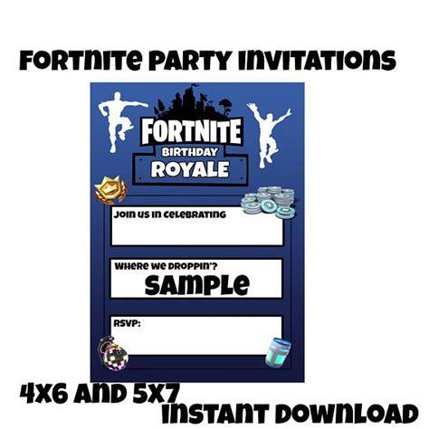 fortnite birthday invitations instant