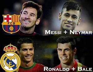 El Clasico : Messi and Neymar vs Ronaldo and Bale