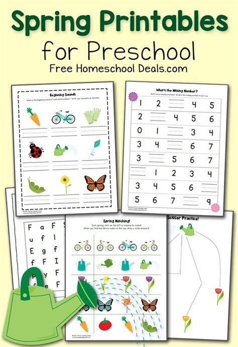 free printables pack for preschool instant 880 | Spring Preschool Worksheets FHD March 2015