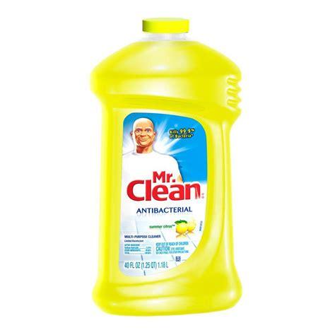 mr clean disinfecting bathroom cleaner mr clean 40 oz multi purpose antibacterial cleaner