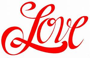Best The Word Love Clipart #24713 - Clipartion.com