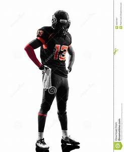 American Football Player Standing Silhouette Stock Photo ...