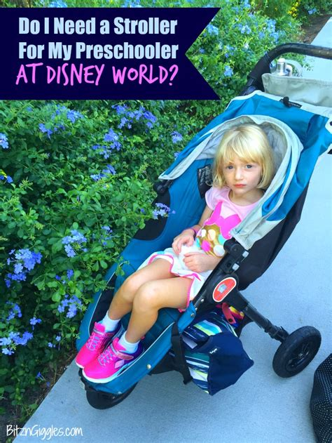 do i need a stroller for my preschooler at disney world 919 | Preschooler in a stoller at Disney post
