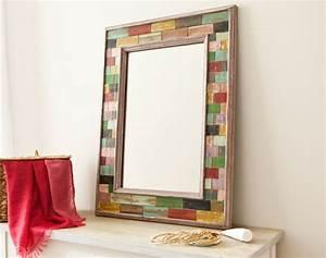 miroir encadrement multicolore becquet With encadrement miroir