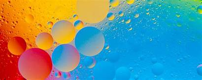 4k Abstract Bubbles Wallpapers Colorful Colourful Dual