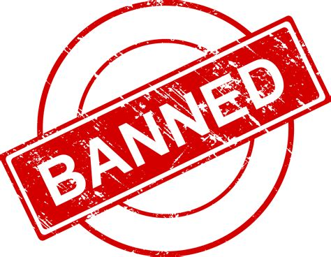 4 Banned Stamp Vector (PNG Transparent, SVG)   OnlyGFX.com