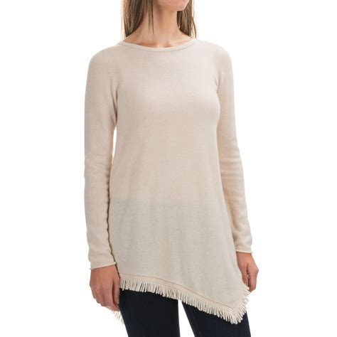 sweaters for philosophy fringed handkerchief tunic sweater