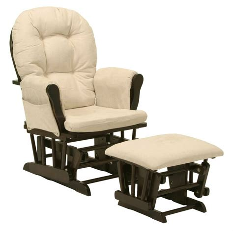 Glider Rocker Ottoman Only by Baby Nursery Bowback Glider Rocker Rocking Chair Espresso