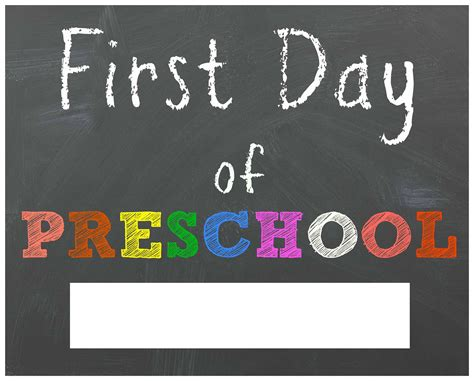 free back to school printable chalkboard signs for 510 | first day of preschool printable sign