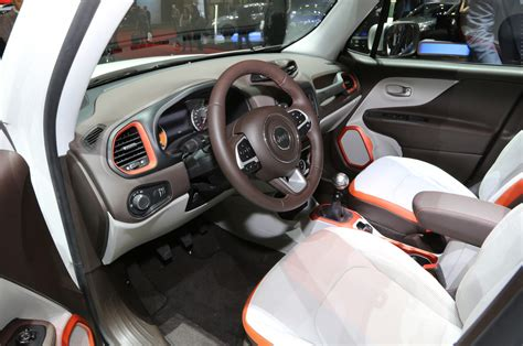 jeep renegade orange interior 2015 jeep renegade first look photo gallery motor trend