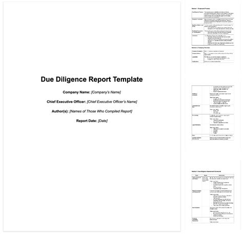 ma due diligence report advanced guide
