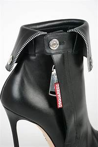 dsquared2 13cm leather open toe ankle boots