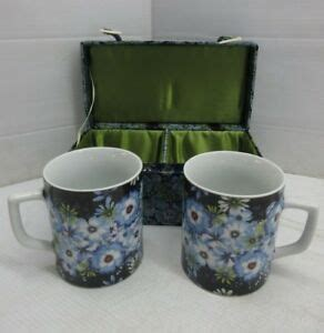 Explore our list of barnes & noble classics at barnes & noble®. New Exclusive BARNES & NOBLE (2) Coffee Mugs w/ Matching Case blue white FLOWERS | eBay