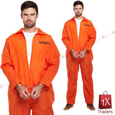 prison jumpsuits mens prisoner orange jumpsuit convict prison fancy