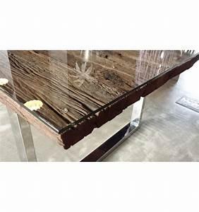 Esstisch Metallgestell Holzplatte : massiver esstisch barracuda teak mit stahl kufenf en 240cm inkl glasplatte tisch holztisch ~ Markanthonyermac.com Haus und Dekorationen