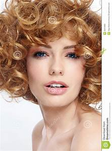 Beauty With Curly Hair Stock Image Image Of Coloration