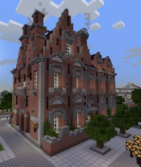 brick mansion  blueprints  minecraft houses castles towers   grabcraft