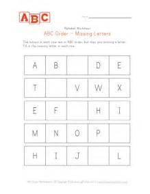 Alphabet Missing Letter Worksheet