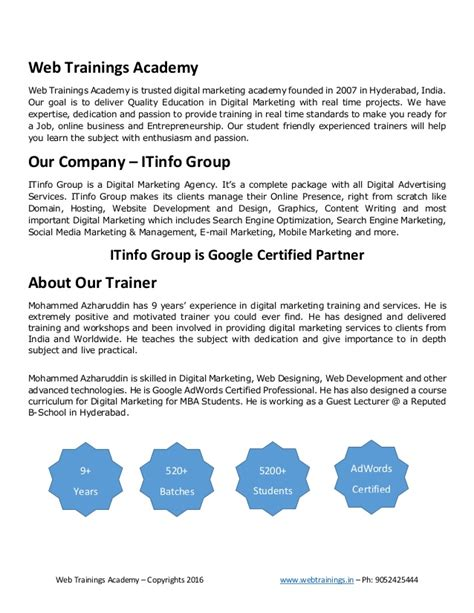digital marketing course outline digital marketing syllabus
