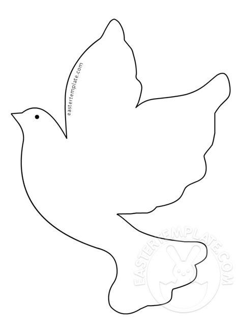 dove template dove picture printable easter template