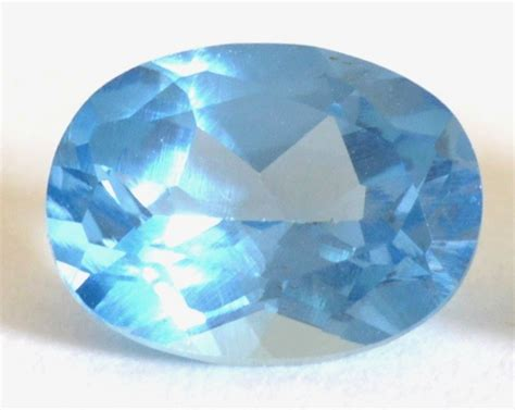 light blue gemstone synthetic spinel