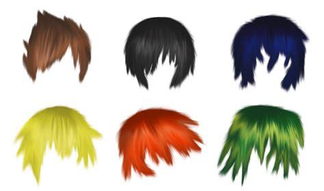 semi realistic male hair  psd file  waterdragon