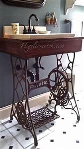Nähmaschinengestell Als Tisch : upcycling altes singer n hmaschinengestell als waschtisch bad pinterest waschtisch ~ Buech-reservation.com Haus und Dekorationen