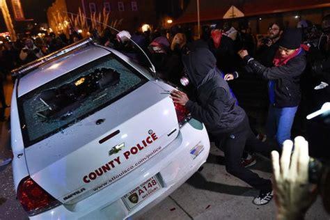 Ferguson Police Car Riots