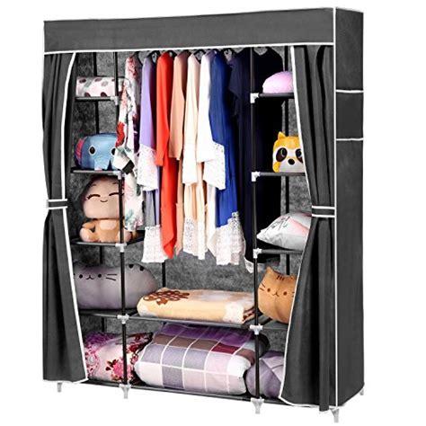 homdox 66inch portable wardrobe metal fabric closet