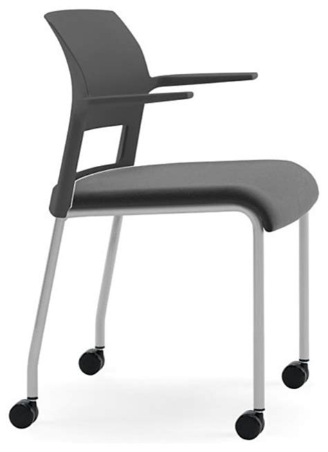 Steelcase Move Multi-Use Chair, Platinum Frame w/Arms