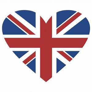 union jack heart wall quotestm wall art decal wallquotescom With nice union jack wall decal